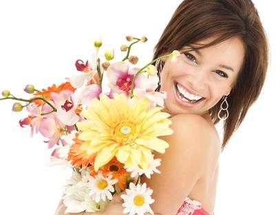 photo avec bouquet fleur
